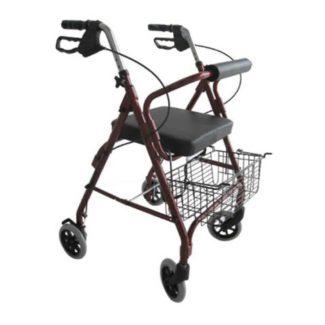 Andador de aluminio plegable