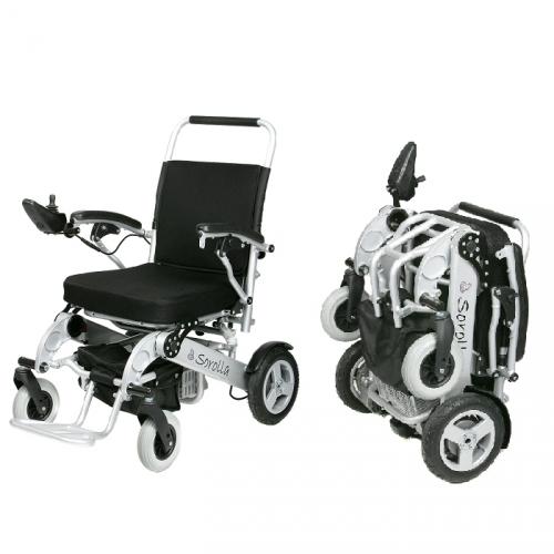 silla de ruedas plegable elegance