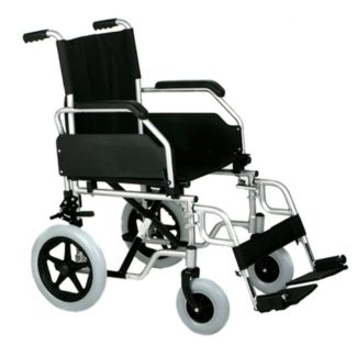 Silla de ruedas de aluminio plegable