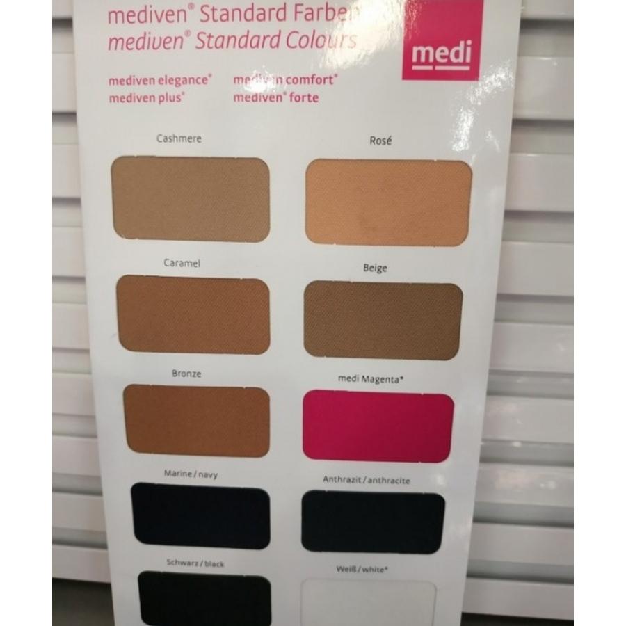 Colores de las medias Mediven: Elegance, Comfort, Plus y Forte