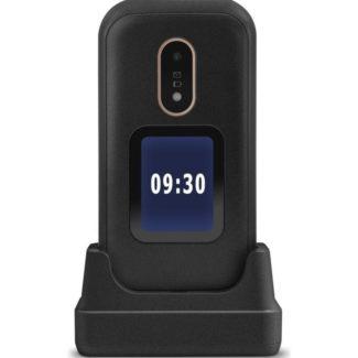 telefono movil doro 2424 sencillo con tapa y reloj.